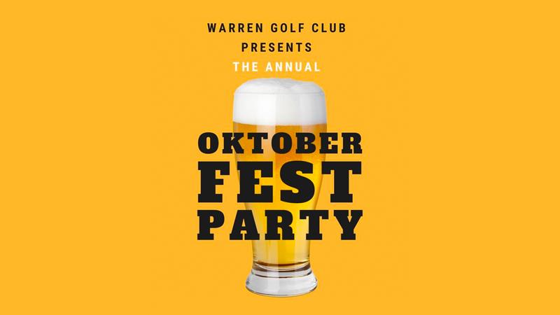Warren Golf Club Oktoberfest