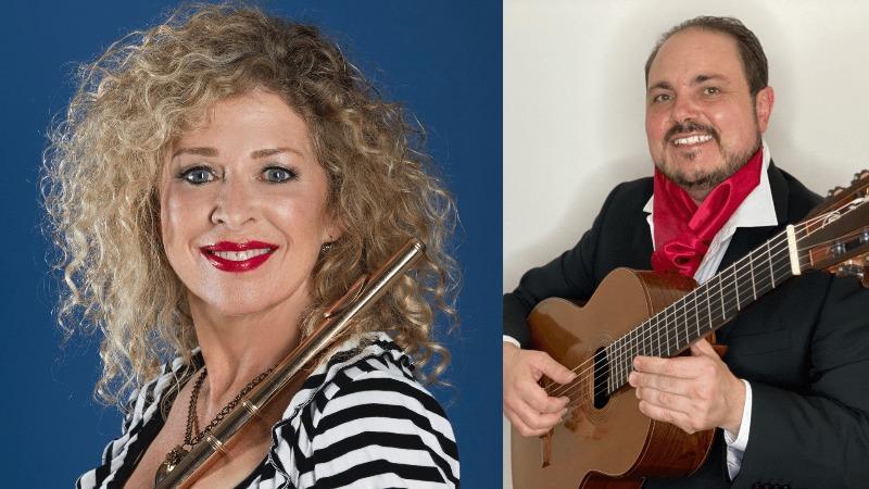 """Madame Flute"" Jane Rutter with Marcello Maio"