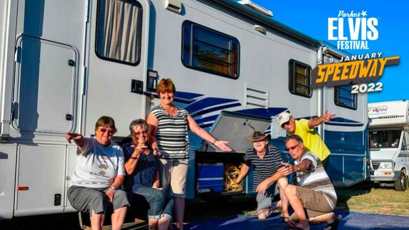 Parkes Elvis Festival - Pioneer Oval Temporary Caravan Park