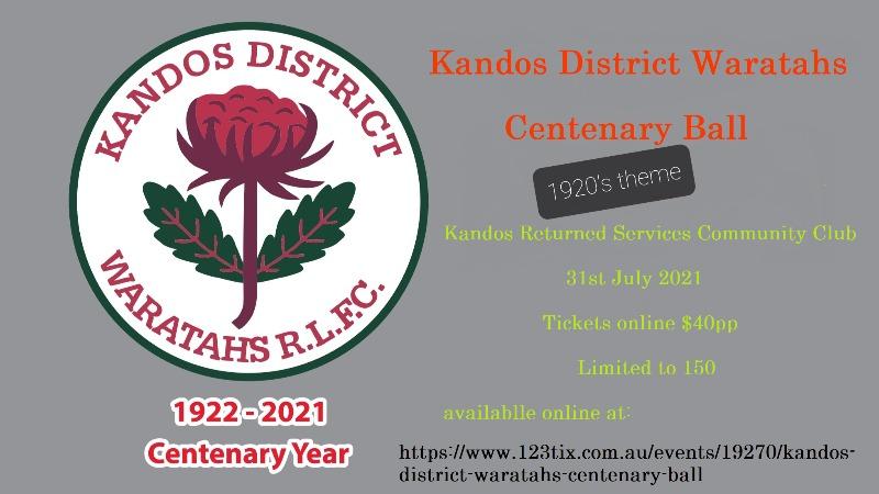 Kandos District Waratahs Centenary Ball