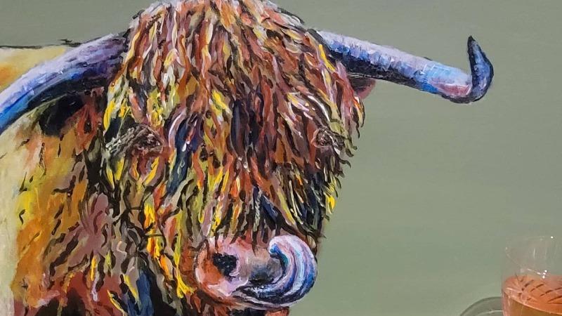 Art by You: Highland Bull