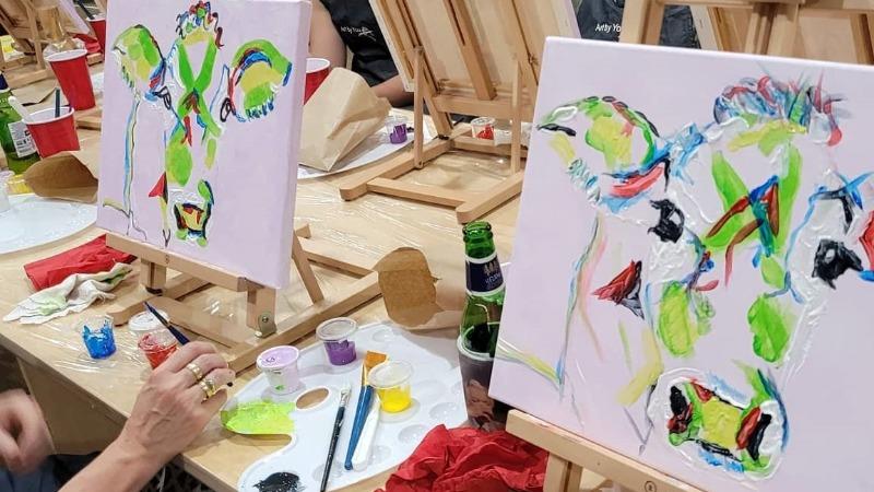 Paint + Sip: Colourful Cow