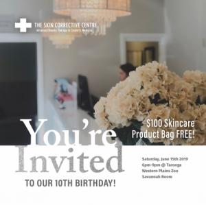 The Skin Corrective Centre's 10th Birthday