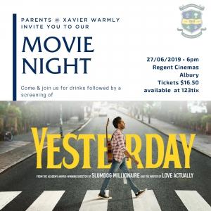 Parents @ Xavier Movie Night