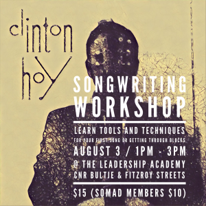 Songwriting Workshop with Clinton Hoy